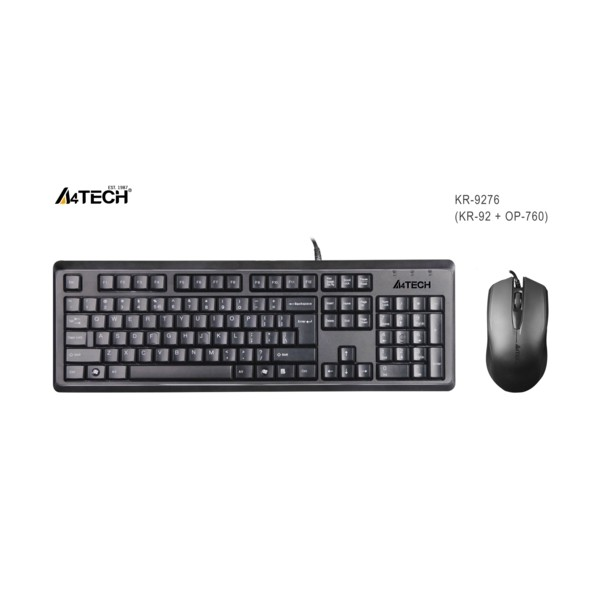 A4 Tech KR-9276 USB Klavye Mouse Set MM Siyah