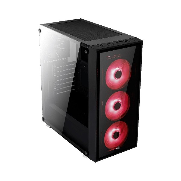 Aerocool Quartz Red 750W Mid Tower Kasa Siyah