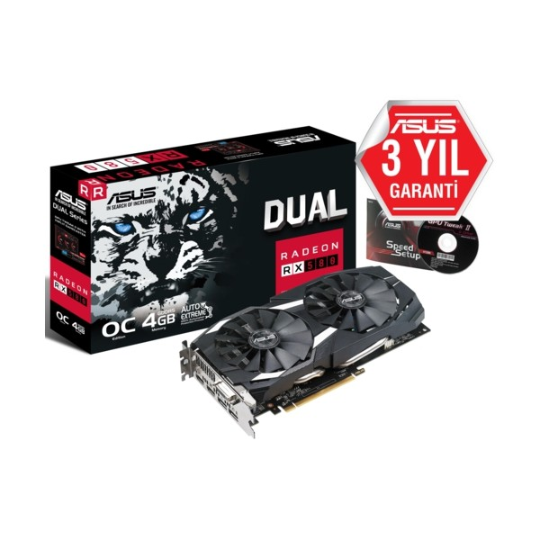 Asus DUAL-RX580-O4G-GAMING 4GB 256Bit DDR5