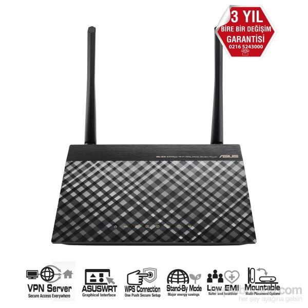 ASUS DSL-N16 300MBPS VPN,VDSL,FİBER ÇİFT ANTEN MODEM