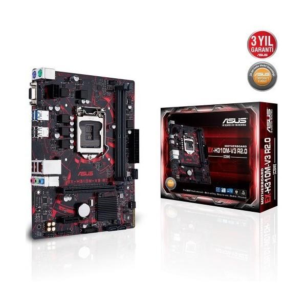 Asus EX-H310M-V3 Gaming Intel H310 2666MHz DDR4 LGA1151 mATX Anakart