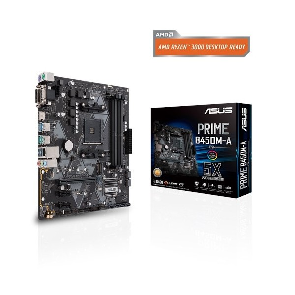 ASUS PRIME B450M-A/CSM AMD B450 AM4 DDR4 4400 HDMI DVI VGA M2 USB3.1 TPM mATX  Ücretsiz Uzaktan Yönetim Yazılımı