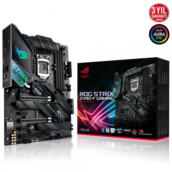 ASUS ROG STRIX Z490-F GAMING 4600MHz(OC) DDR4 Soket 1200 M.2 HDMI DP ATX Anakart