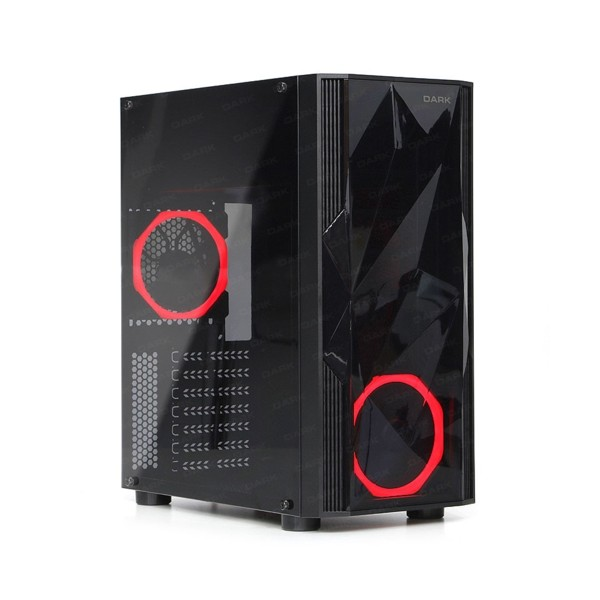 Dark Diamond 600W Mid Tower Kasa Siyah