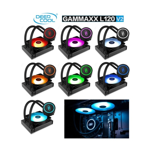 Deep Cool Gammaxx L120 V2 RGB 120mm Sıvı CPU Soğt.