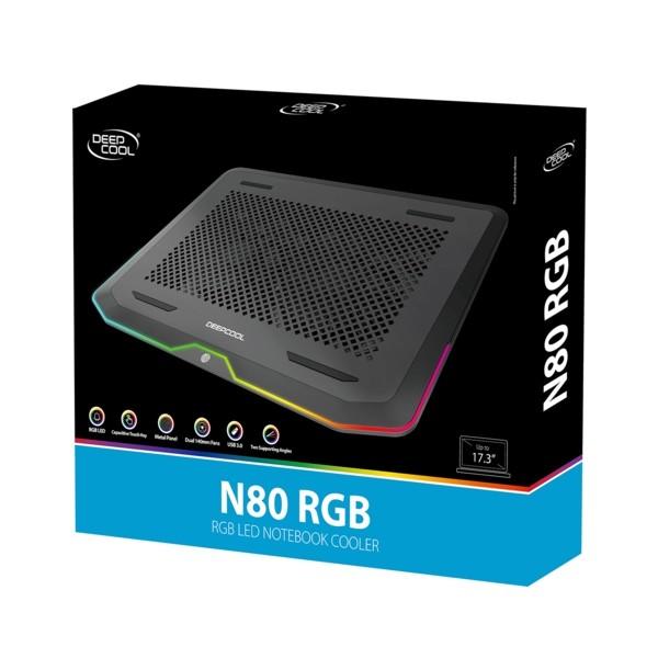 Deep Cool N80 RGB 17,3' Ntb Soğutucu Siyah