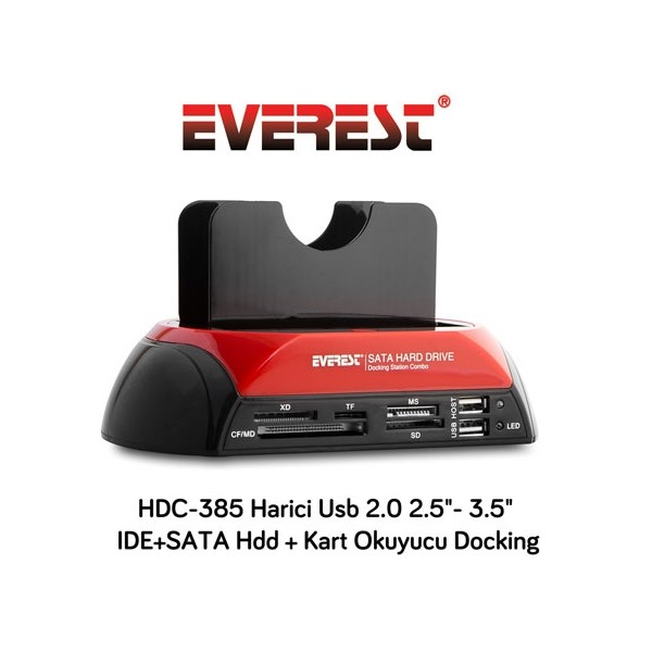 Everest HDC-385 Usb 2.0 2.5- 3.5 Hdd Docking