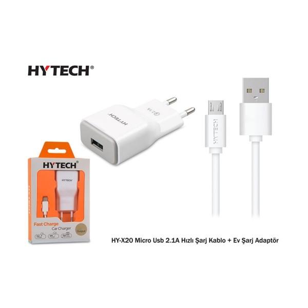 Hytech HY-X20 Micro Usb 2.1A Hızlı Şarj + Adaptör
