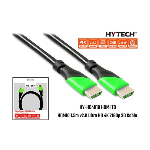 Hytech HY-HD4K10 HDMI TO HDMI 10m Kablo