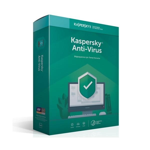 Kaspersky Antivirüs - 2 Kullanıcı DVD Kutu