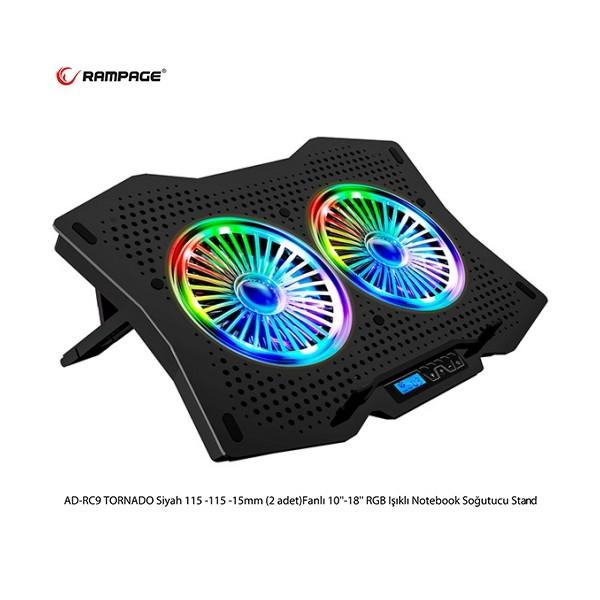 Rampage AD-RC9 TORNADO RGB  Notebook Soğutucu